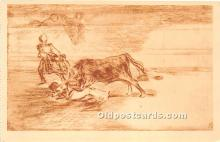 spo017389 - Old Vintage Bull Fighting Postcard Post Card