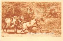 spo017390 - Old Vintage Bull Fighting Postcard Post Card