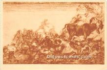 spo017393 - Old Vintage Bull Fighting Postcard Post Card