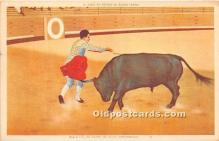 spo017397 - Old Vintage Bull Fighting Postcard Post Card