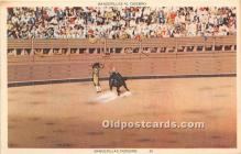 spo017398 - Old Vintage Bull Fighting Postcard Post Card
