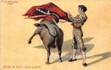 spo017400 - Old Vintage Bull Fighting Postcard Post Card