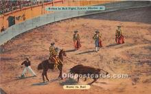 Action in Bull Fight, Horse vs Bull