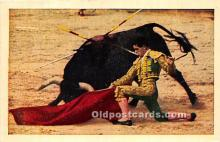 spo017408 - Old Vintage Bull Fighting Postcard Post Card