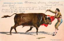 spo017417 - Old Vintage Bull Fighting Postcard Post Card