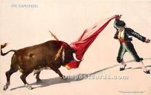 spo017418 - Old Vintage Bull Fighting Postcard Post Card