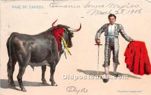 spo017419 - Old Vintage Bull Fighting Postcard Post Card