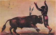 spo017420 - Old Vintage Bull Fighting Postcard Post Card