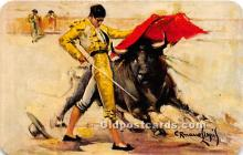 spo017421 - Old Vintage Bull Fighting Postcard Post Card