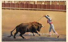 spo017423 - Old Vintage Bull Fighting Postcard Post Card