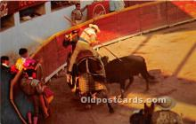 Bullfight, the Picing of the Bull from horseback