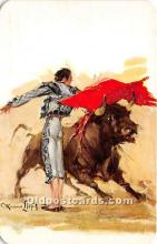 spo017430 - Old Vintage Bull Fighting Postcard Post Card