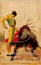 spo017431 - Old Vintage Bull Fighting Postcard Post Card