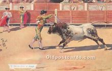 spo017433 - Old Vintage Bull Fighting Postcard Post Card