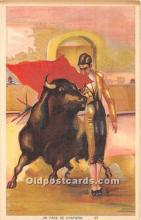 spo017435 - Old Vintage Bull Fighting Postcard Post Card