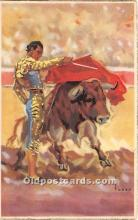 spo017436 - Old Vintage Bull Fighting Postcard Post Card