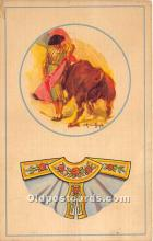 spo017438 - Old Vintage Bull Fighting Postcard Post Card