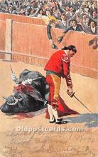 spo017442 - Old Vintage Bull Fighting Postcard Post Card