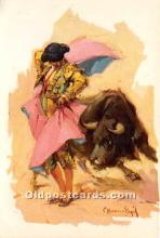 spo017445 - Old Vintage Bull Fighting Postcard Post Card