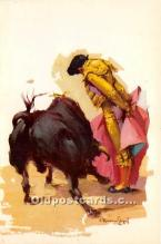 spo017446 - Old Vintage Bull Fighting Postcard Post Card