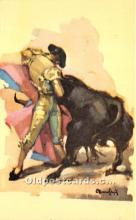 spo017447 - Old Vintage Bull Fighting Postcard Post Card