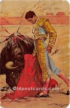 spo017450 - Old Vintage Bull Fighting Postcard Post Card