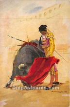 spo017453 - Old Vintage Bull Fighting Postcard Post Card