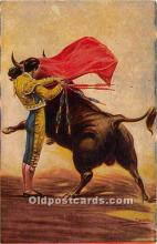 spo017454 - Old Vintage Bull Fighting Postcard Post Card