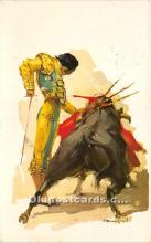 spo017456 - Old Vintage Bull Fighting Postcard Post Card