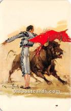 spo017457 - Old Vintage Bull Fighting Postcard Post Card