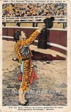 spo017458 - Old Vintage Bull Fighting Postcard Post Card