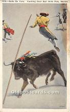 spo017461 - Old Vintage Bull Fighting Postcard Post Card
