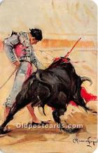 spo017463 - Old Vintage Bull Fighting Postcard Post Card