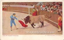 spo017475 - Old Vintage Bull Fighting Postcard Post Card