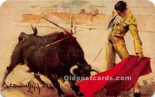 spo017479 - Old Vintage Bull Fighting Postcard Post Card