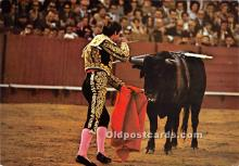 spo017485 - Old Vintage Bull Fighting Postcard Post Card