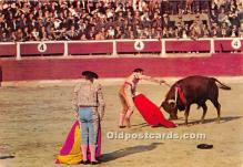 spo017491 - Old Vintage Bull Fighting Postcard Post Card
