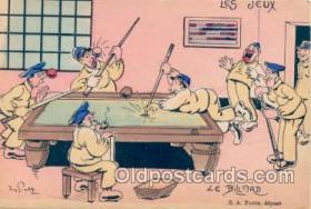 spo018004 - Pool, Billiard, Billiards, Postcard Postcards