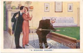 spo018005 - Pool, Billiard, Billiards, Postcard Postcards