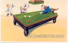 spo018007 - Pool, Billiard, Billiards, Postcard Postcards