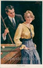 spo018008 - Pool, Billiard, Billiards, Postcard Postcards