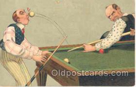 spo018014 - Pool, Billiard, Billiards, Postcard Postcards
