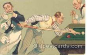 spo018015 - Pool, Billiard, Billiards, Postcard Postcards
