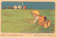 spo018020 - Pool, Billiard, Billiards, Postcard Postcards