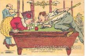 spo018022 - Pool, Billiard, Billiards, Postcard Postcards