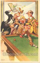 spo018042 - Pool, Billiard, Billiards, Postcard Postcards