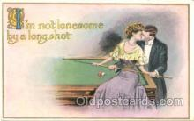 spo018045 - Pool, Billiard, Billiards, Postcard Postcards