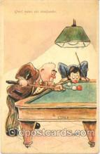 spo018047 - Pool, Billiard, Billiards, Postcard Postcards