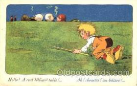 spo018052 - Billiards, Pool Postcard Postcards