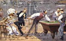 spo018072 - Billiards, Pool Postcard Postcards